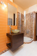 Classy house - orange bathroom