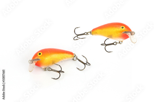 Fishing lure Orange.