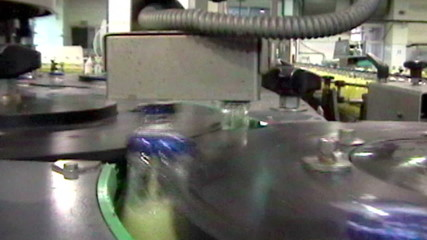 Inside beverage factory production