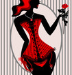 abstract lady in red corset