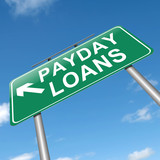 Payday loans concept.