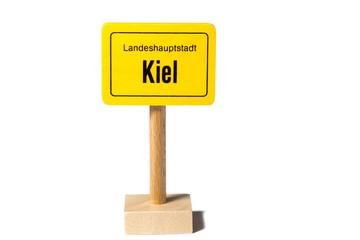 Schild Landeshauptstadt Kiel