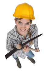 Young female laborer