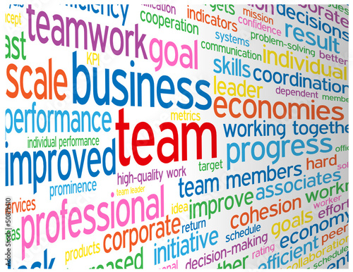 """TEAM"" Tag Cloud (management performance teamwork excellence)"