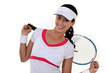 Woman ready to play tennis