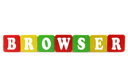Picture of varicoloured child's blocks for games