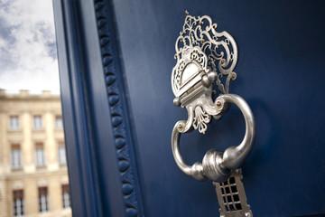 Heurtoir, porte, bois, immobilier, palais, Bordeaux, monument