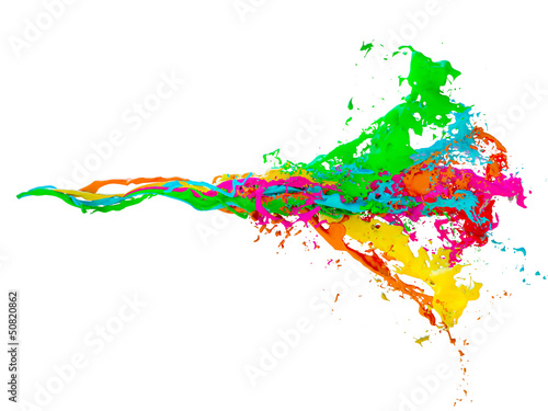 3D mix of colored paint