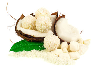 Coconut with coconut candy