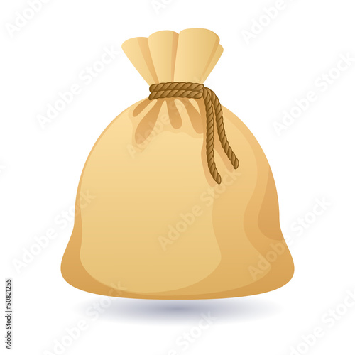isolated old bag