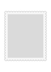 Briefmarke Vorlage für redaktionelle Bearbeitung