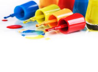 The multicolored enamel