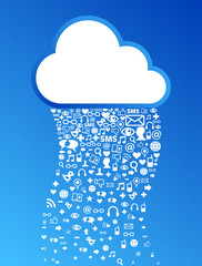 Cloud computing icon background