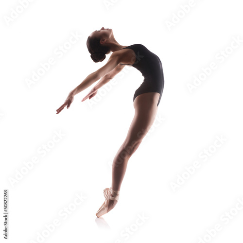 Tuinposter Gymnastiek Young balet dancer
