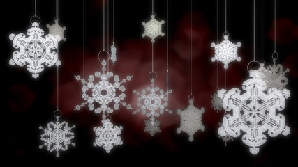 Loopable Snowflake Ornaments with Alpha Channel