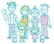 三世代家族とペット