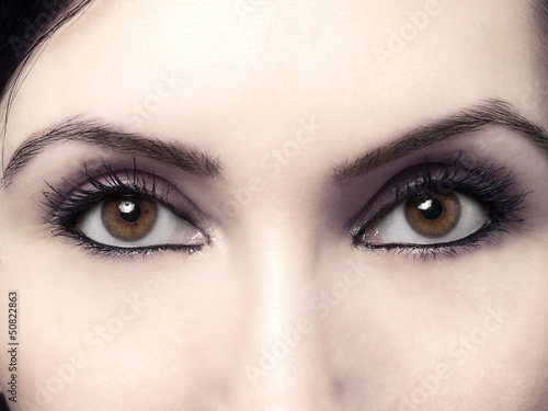 canvas print picture brown eyes macro