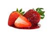 Erdbeeren mit Soße