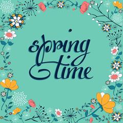 Spring time vintage flower background