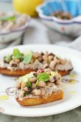 Bruschetta  with beans