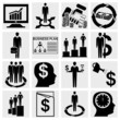 Human resource, finance, logistic and management icons set.