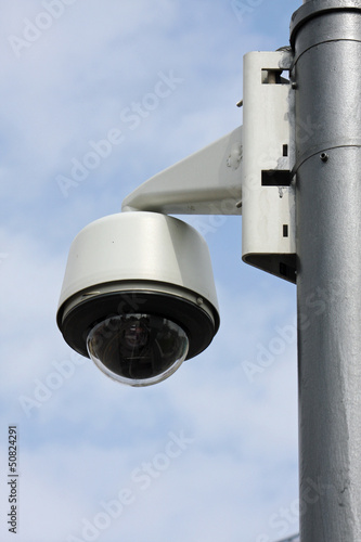security camera to monitor the crossings citizens and supporters