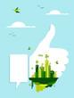 Go green like concept