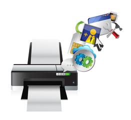 printer settings tools illustration