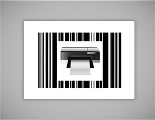 printer bar ups code illustration