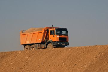 sand transport truck
