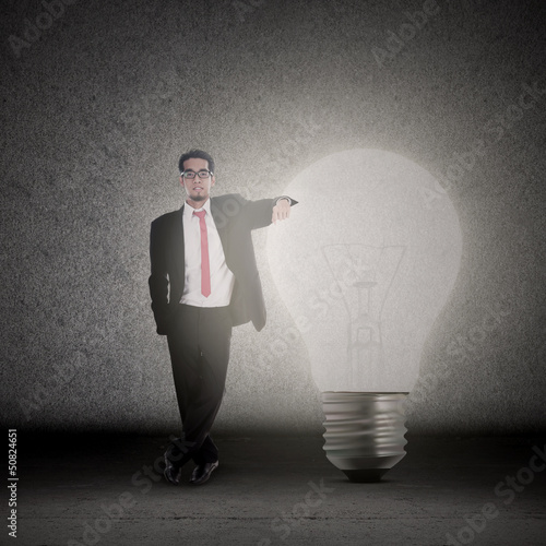 Businessman has idea