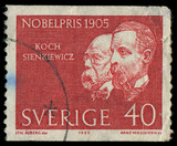 SWEDEN - CIRCA 1965: showing nobel awarded scientists poster