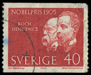SWEDEN - CIRCA 1965: showing nobel awarded scientists