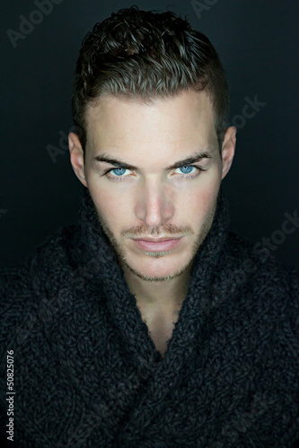 Portrait of a beautiful young man