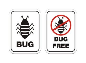 bug - alert sign