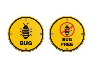 bug alert sign