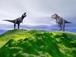 hill green and dinosaur