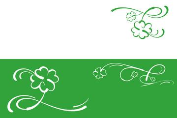 Glücksklee auf Grün, Double