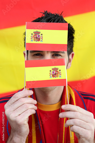 Spanish football supporter