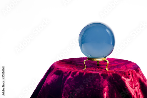 Fortune teller's Crystal Ball isolated on white