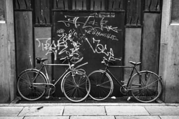 Bicycles B&W image