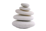 Zen stones isolated on white background