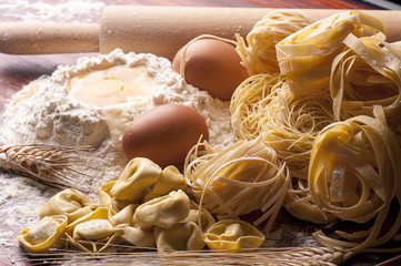 varieta di pasta all'uovo