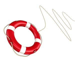 Спасательный круг на веревке