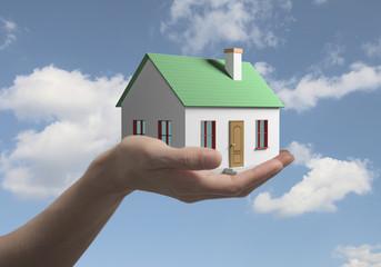 дом в руке