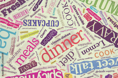 cooking word collage