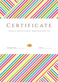 Colorful stripy certificate (diploma) of completion (template)