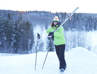 Athlete skier