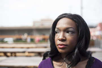 Head Shot of Beautiful African American Woman