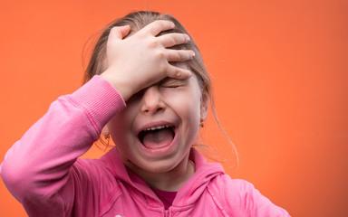 Very upset girl